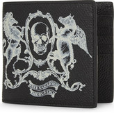 Alexander McQueen Amq coat of arms 8cc billfold