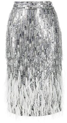 Amen Bead-Embellished Pencil Skirt