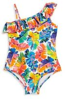 Milly Minis Toddler's & Little Girl's One-Piece Banana Leaf Swimsuit