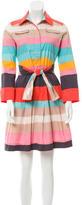 Diane von Furstenberg Striped Print Belted Dress