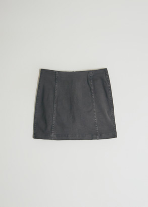 Which We Want Women's Ella Mini Skirt In Charcoal, Size Small | Spandex