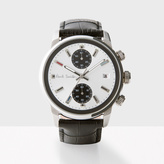 Paul Smith Men's White And Black 'Block' Chronograph Watch