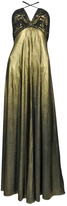 Christian Lacroix Gold Silk Dress for Women Vintage