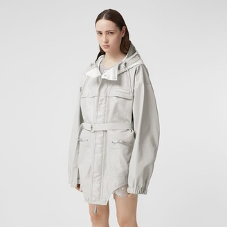 Burberry Cut-out Hem Coated Nylon Parka