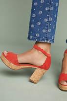 Anthropologie Scalloped Platform Heels