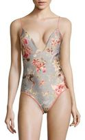 Zimmermann Mercer One-Piece Floral-Printed Swimsuit