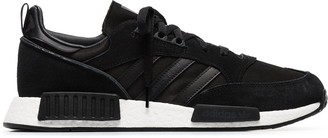 adidas black Boston R1 suede sneakers