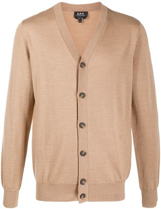 A.P.C. V-Neck Knit Cardigan