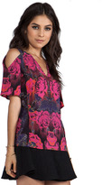 Nanette Lepore Extraterrestrial Print Top