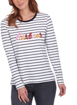 Barbour Kielder Cotton Striped T-Shirt