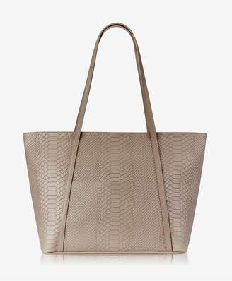 GiGi New York Jessica Zipper Tote In Stone Embossed Python