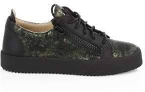 Giuseppe Zanotti Camouflage Leather Sneakers