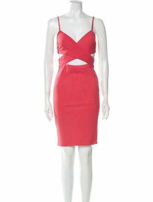 Zac Posen V-Neck Mini Dress w/ Tags Orange