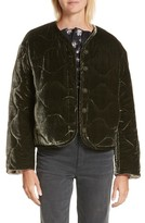 Rebecca Taylor Women's Quilted Velvet Jacket