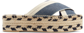 Stella McCartney Cross-front flatform espadrille slides