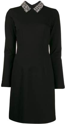 Blumarine Be Embellished Collar Dress