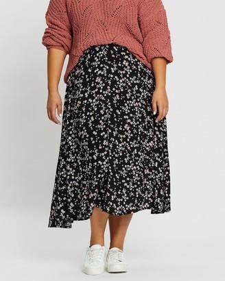 Cotton On Curve Botanical Midi Skirt