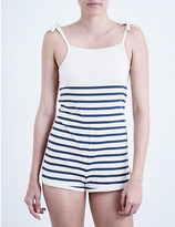 Solid & Striped The knit cotton-jersey playsuit