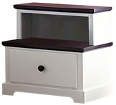 Homelegance Castle Heights 1-Drawer Nightstand with Knob Pull White/Dark Espresso
