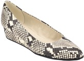 Easy Spirit Abelle Snakeskin Printed Leather Wedge Pump