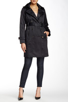London Fog Water Repellent Double Breasted Trench Coat (Petite)