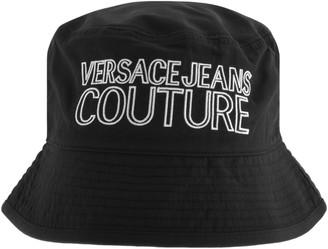 Versace Jeans Couture Logo Bucket Hat Black