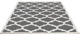 DecorShore Aroa Cupola Hand-Tufted Gray Area Rug DecorShore