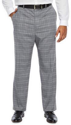 Jf J.Ferrar Big and Tall Ultra Comfort Plaid Stretch Suit Pants