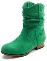 Charlotte Russe Sueded Slouchy Western Bootie