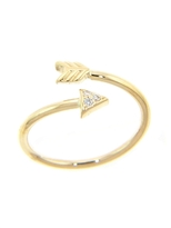 Campise Diamond Arrow Twist Ring