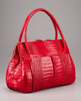 Nancy Gonzalez Linda Crocodile Bag, Red