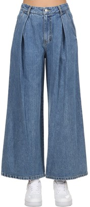 Sjyp Cotton Denim Wide Leg Jeans