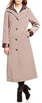 Gallery Long Single Breasted Silk-Look Raincoat