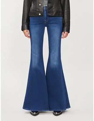 Frame Le High Super Flare stretch-denim jeans