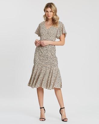 Atmos & Here Franky Ruffle Midi Dress