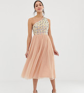 Asos Tall DESIGN Tall Embellished Tulle Midi Dress