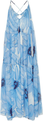 Jacquemus La Robe Mistral Floral-Print Chiffon Maxi Dress