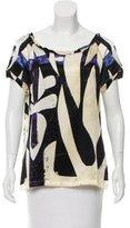 Roberto Cavalli Printed Silk Blouse w/ Tags