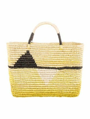 Sensi Straw Tote Bag Yellow