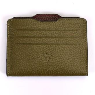 Hiva Atelier Double Card Holder Khaki & Burgundy