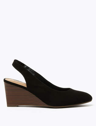 Marks and Spencer Wedge Heel Slingback Court Shoes