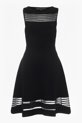 French Connection Tobey Crepe Knits Knee Length Skater Dress