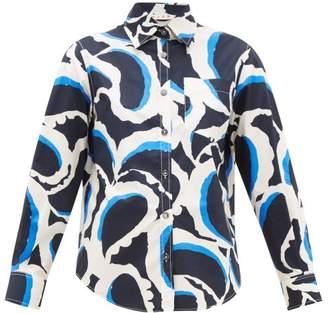 Marni Printed Cotton Poplin Shirt - Womens - Black Multi