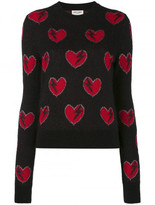 Saint Laurent heart embroidered sweater