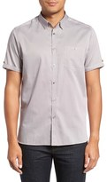 Ted Baker Men's 'Newcool' Modern Slim Fit Print Short Sleeve Sport Shirt
