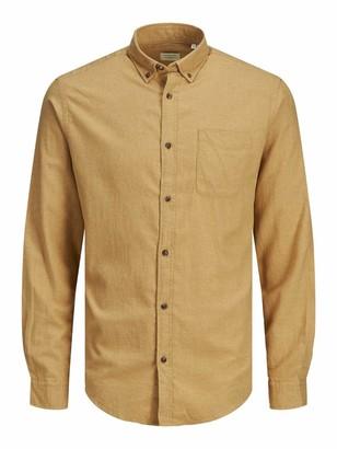 Jack and Jones Men's JJECLASSIC Melange Shirt L/S AU20 STS