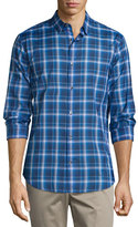 Vince Manhattan Plaid Long-Sleeve Sport Shirt, Vibrant Blue