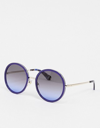 Kate Spade round sunglasses in blue