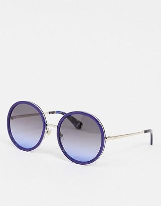 Kate Spade round sunglasses in blue