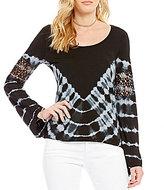 Jessica Simpson Laurine Bell-Sleeve Tie-Dye Top